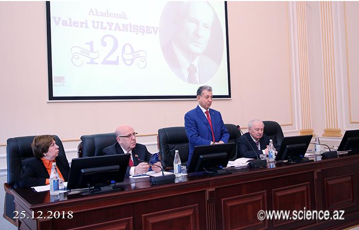 Akademik Valeriy Ulyanişevin 120 illik yubileyinə həsr olunan elmi simpozium keçirilib