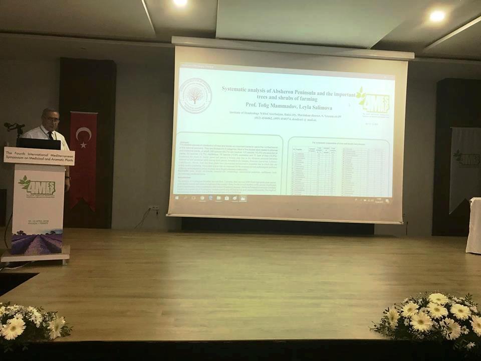 AMEA Dendrologiya İnstitutunun direktoru beynəlxalq simpoziumda iştirak edib