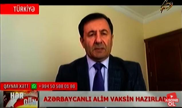 """Azərbaycanlı alimin hazırladığı vaksin haqqında """"Space TV""""də videosüjet yayımlanıb"""
