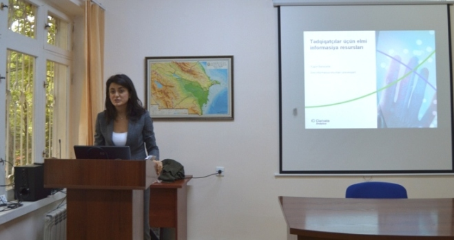 """MEA Botanika İnstitutunda """"Web of Science"""" platformasından istifadə qaydalarına dair seminar keçirilib"""