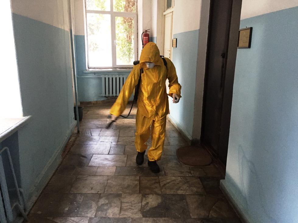 AMEA Mərkəzi Nəbatat Bağında sanitar-dezinfeksiya işləri aparılıb