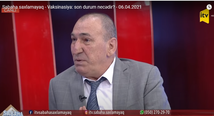 """Ismayil Zulfugarov, Head of the international Proteomics laboratory of IMBB was a guest of the """"Let's not put off until tomorrow"""" program of ITV"""
