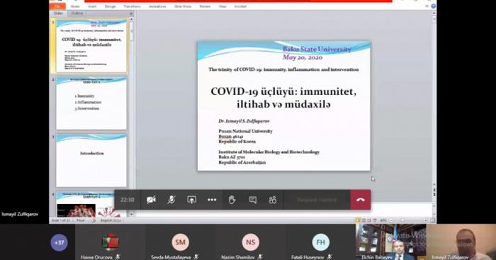 """""""COVID-19 üçlüyü: immunitet, iltihab və müdaxilə"""" mövzusunda onlayn ustad dərsi keçirilib"""
