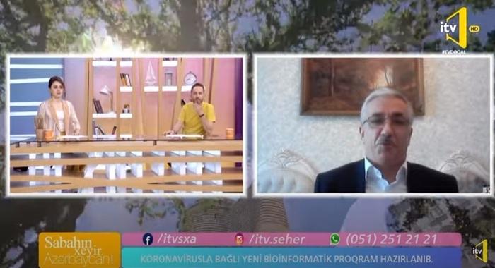 MBBİ-nin alimi İctimai TV-də koronavirusla bağlı hazırlanmış yeni bioinformatik proqram haqqında danışıb