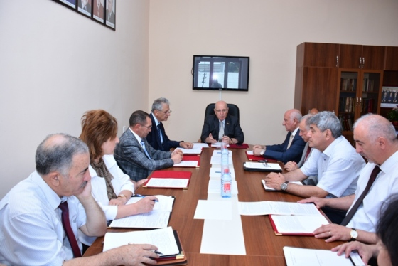 Bureau meeting of the Department of Biological and Medical Sciences of ANAS